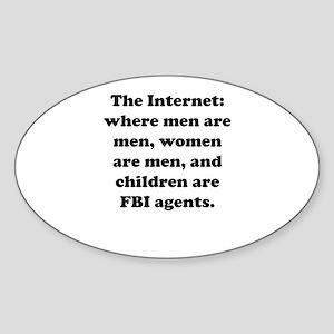 The Internet Oval Sticker
