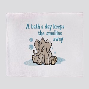 A Bath A Day Throw Blanket