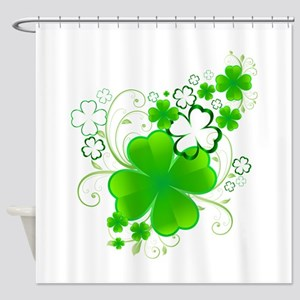 Clovers and Swirls Shower Curtain