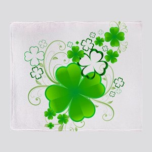 Clovers and Swirls Throw Blanket
