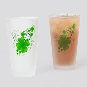 Clovers and Swirls Drinking Glass