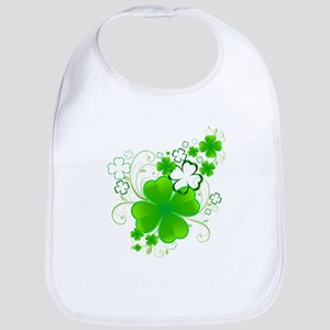 Clovers and Swirls Bib
