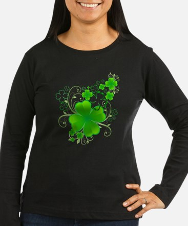 Clovers and Swirls Long Sleeve T-Shirt