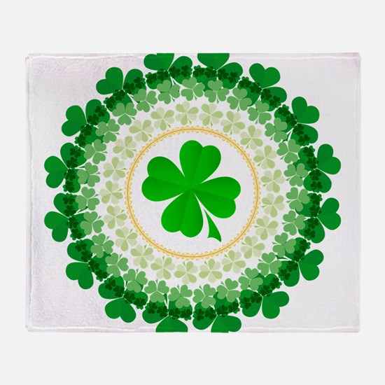 Shamrock Circle Throw Blanket