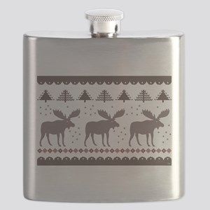 Maine Moose Flask