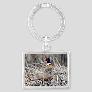 Ring Necked Pheasant Landscape Keychain