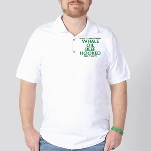 Whale Oil Beef Hooked St. Patricks Day Design Golf