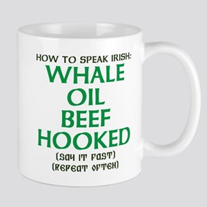 Whale Oil Beef Hooked St. Patricks Day Design Mugs
