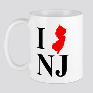 I NJ New Jersey Mug