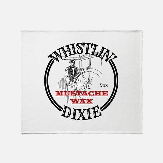 Whistlin' Dixie Mustache Wax Throw Blanket