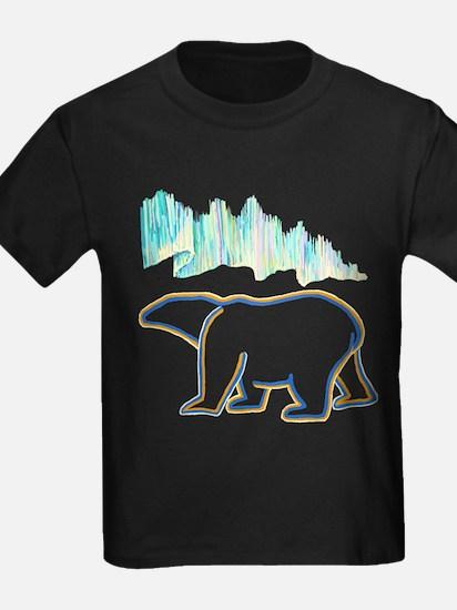 POLAR BEAR AND NORTHERN LIGHTS T-Shirt