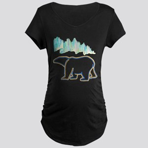 POLAR BEAR AND NORTHERN LIGHTS Maternity T-Shirt