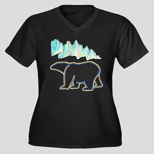 POLAR BEAR AND NORTHERN LIGHTS Plus Size T-Shirt
