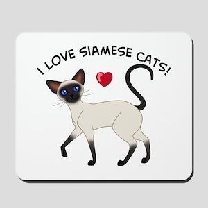 Love Siamese Seal Mousepad