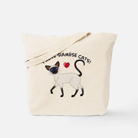Love Siamese Seal Tote Bag