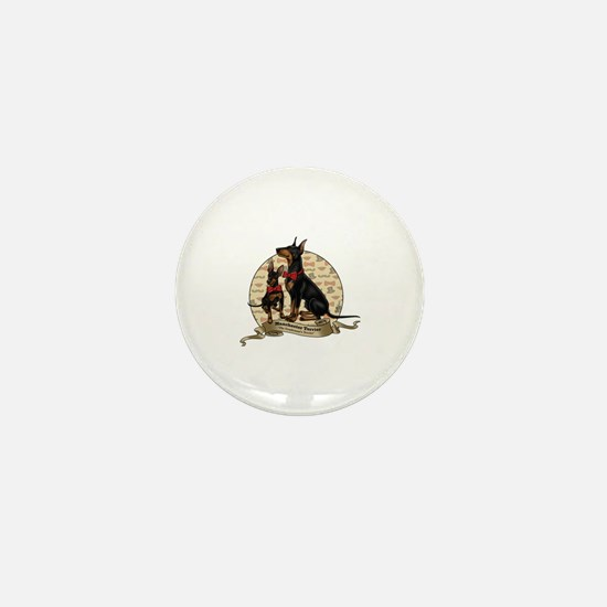 The Gentleman's Terrier by Molly Yang Mini Button