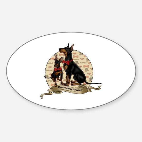 The Gentleman's Terrier by Molly Ya Sticker (Oval)