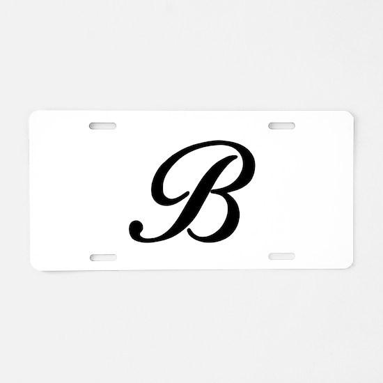 B-Bir black Aluminum License Plate