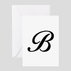 B-Bir black Greeting Cards