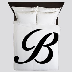 B-Bir black Queen Duvet