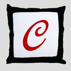 C-Bir red2 Throw Pillow