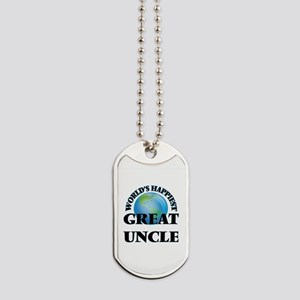 World's Happiest Great Uncle Dog Tags