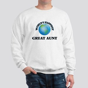World's Happiest Great Aunt Sweatshirt