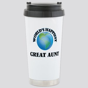 World's Happiest Great Stainless Steel Travel Mug