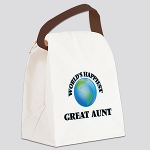 World's Happiest Great Aunt Canvas Lunch Bag