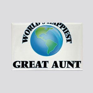 World's Happiest Great Aunt Magnets
