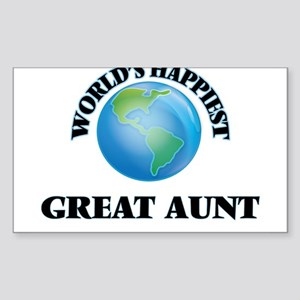 World's Happiest Great Aunt Sticker