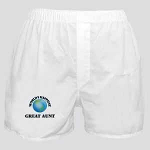 World's Happiest Great Aunt Boxer Shorts