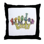 king fr mmxv trans Throw Pillow