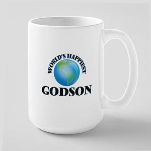 World's Happiest Godson Mugs