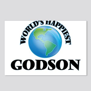World's Happiest Godson Postcards (Package of 8)