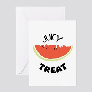 Rine greeting cards cafepress jucy treat greeting cards m4hsunfo