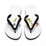 king fr white Flip Flops