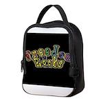 king fr mmxv black Neoprene Lunch Bag