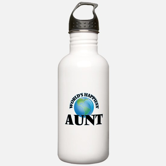 World's Happiest Aunt Water Bottle