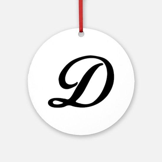 D-Bir black Ornament (Round)