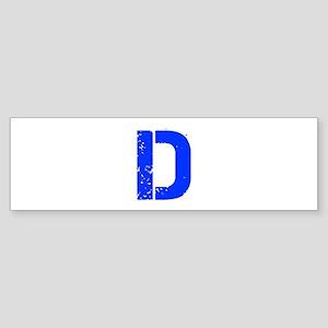 D-Cap blue Bumper Sticker