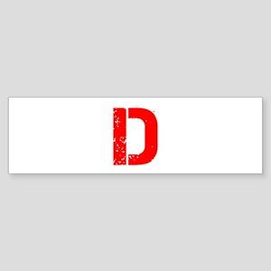 D-Cap red Bumper Sticker
