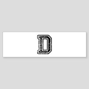 D-Col black Bumper Sticker