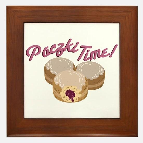 Paczki Time! Framed Tile