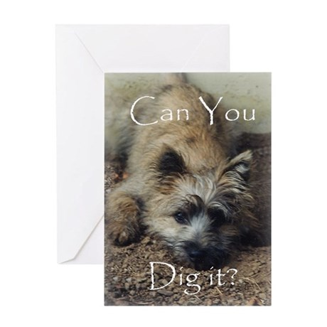 Cairn Terrier Dig It! Greeting Card