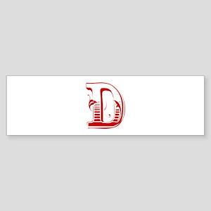 D-Max red2 Bumper Sticker