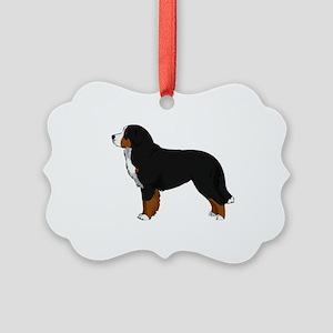 Bernese Mt Dog Picture Ornament