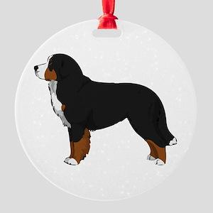 Bernese Mt Dog Round Ornament