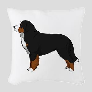 Bernese Mt Dog Woven Throw Pillow