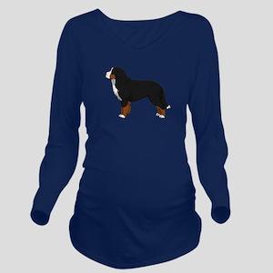 Bernese Mt Dog Long Sleeve Maternity T-Shirt